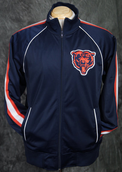 Chicago Bears Mitchell & Ness Snap Pass Track Jacket