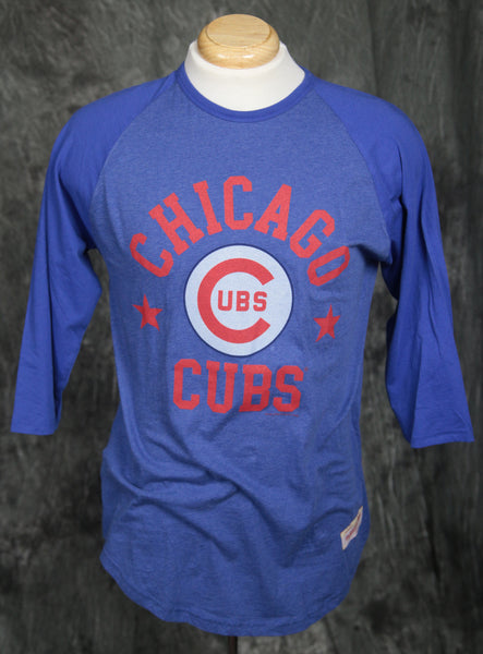 Chicago Cubs Mitchell & Ness Split Color Raglan Shirt