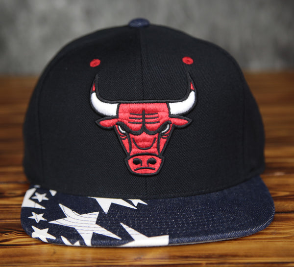 Chicago Bulls Mitchell & Ness Denim Star Snapback Hat