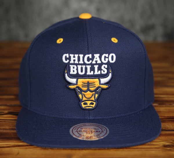 Chicago Bulls Mitchell & Ness Blue Yellow Snapback Hat