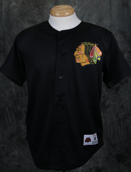 Chicago Blackhawks Mitchell & Ness Mesh Button Jersey