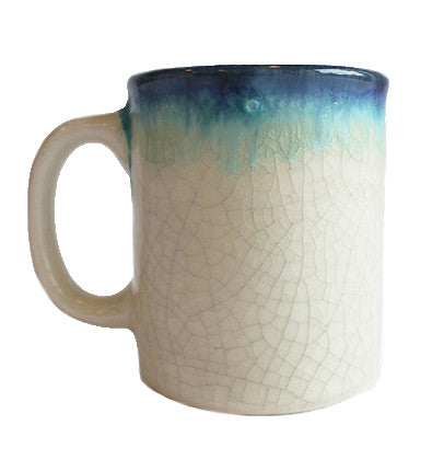 Blue Crackle Mug