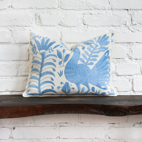 Blue Otomi Pillow