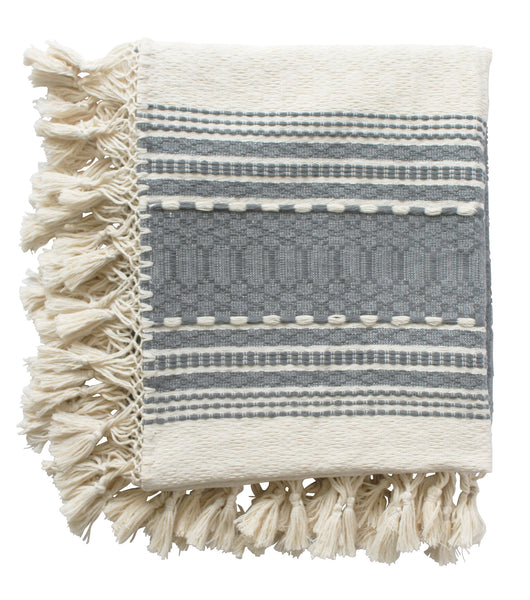 Gray Cassill Woven Throw