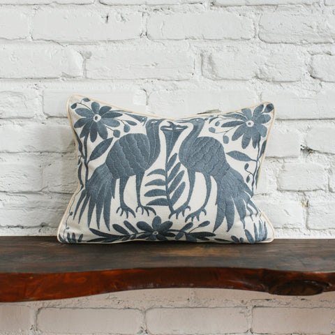 Back of Charcoal Otomi Pillow