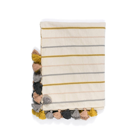 Aisley Warm Stripe Throw Blanket