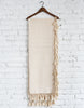 Casual Cream Woven Throw Hung