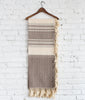 Taupe Cassil Woven Throw Hung
