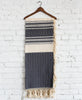 Cassil Gray Woven Throw Hung