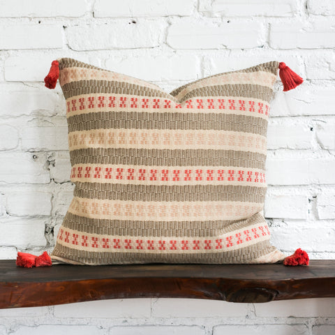 Emily Woven Tasseled Pillow