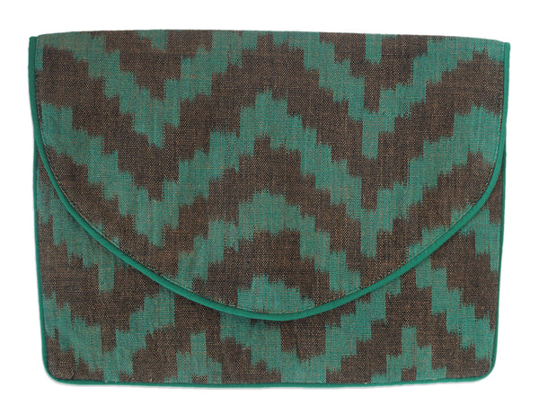 Gia Green Ikat Clutch