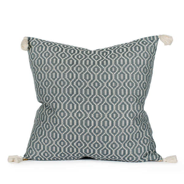 Gisele Woven Tasseled Pillow Front