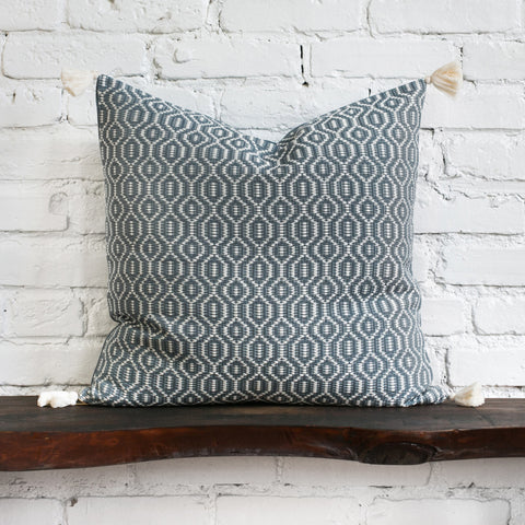 Gisele Woven Tasseled Pillow