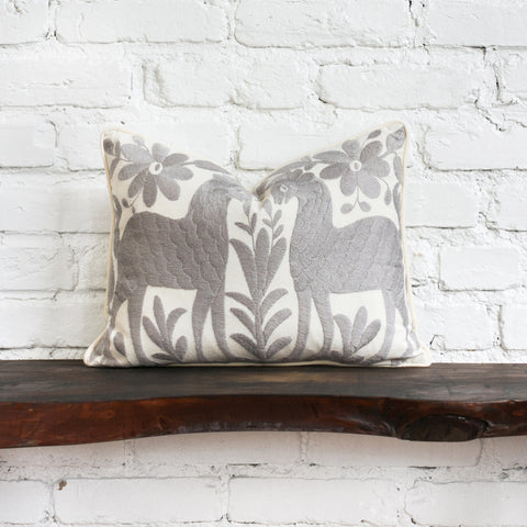 Gray Otomi Pillow Styled