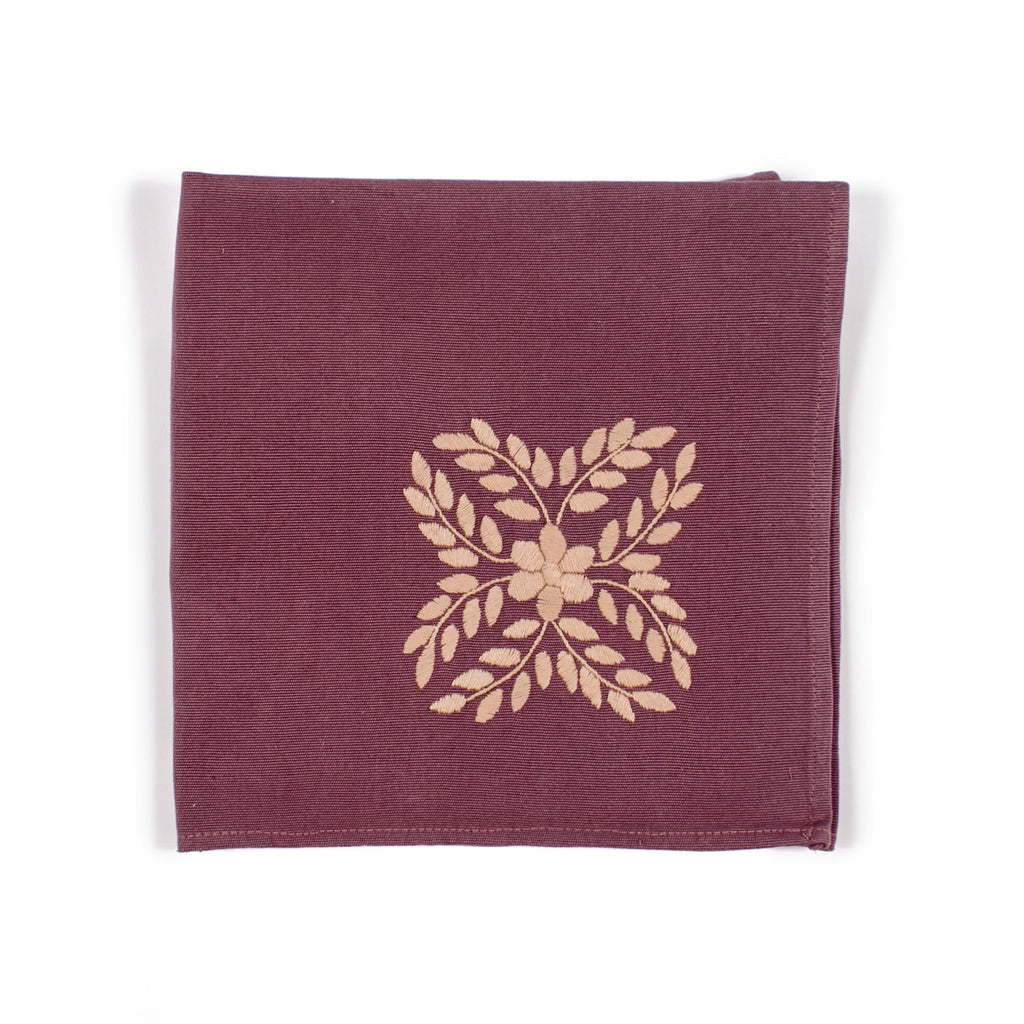 Vivian Plum Dinner Napkin by Alegria Home