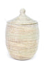 Kaia Solid White Basket