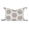 Luca Applique Haxagon Pillow Front