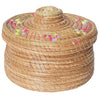 Multi Ombre Thread and Natural Woven Basket