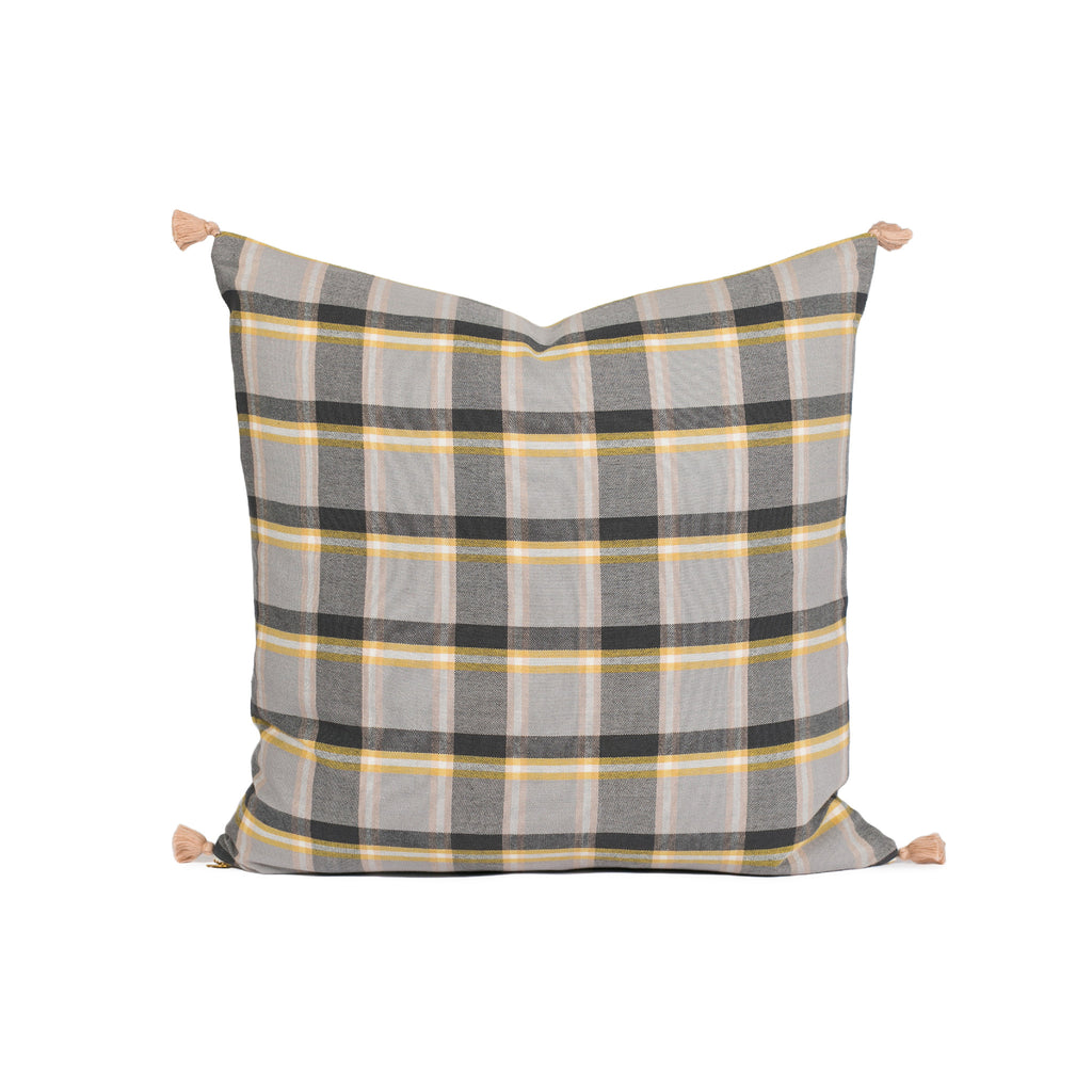 Cullen Warm Plaid Woven Pillow