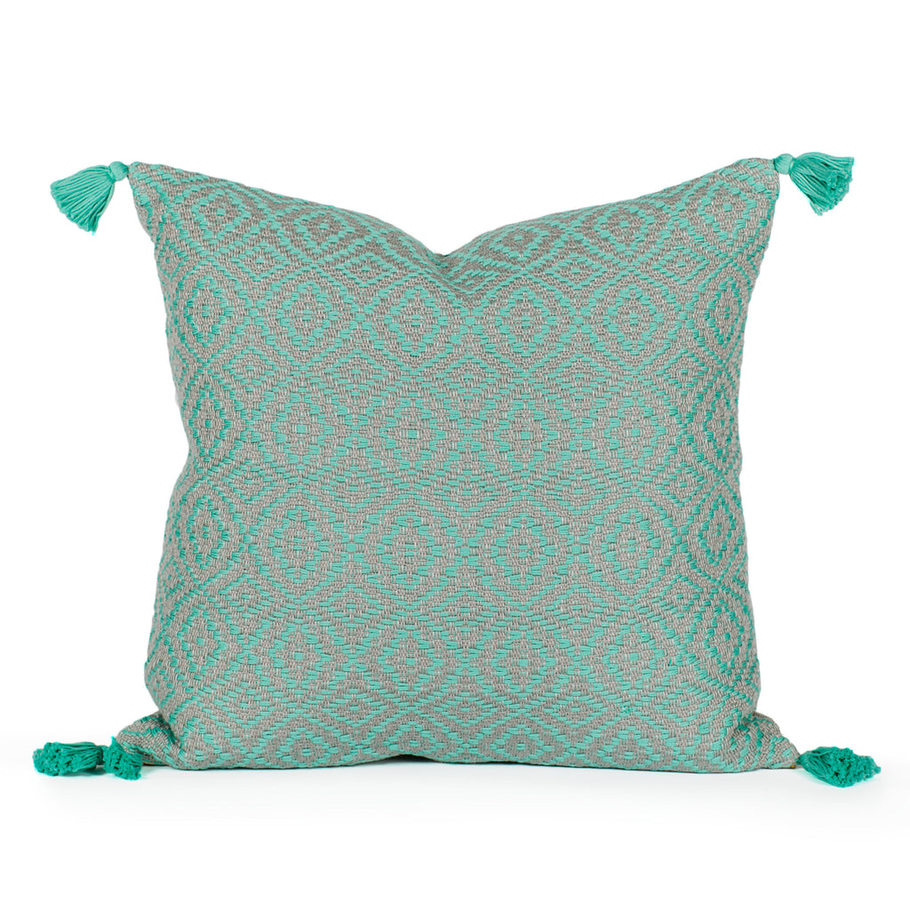 Mina Woven Tasseled Pillow