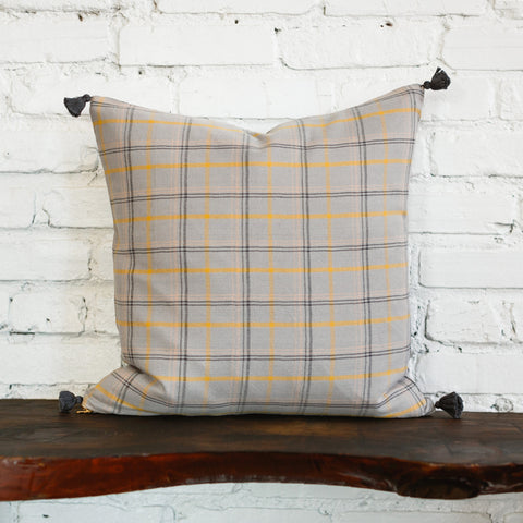 Finley Warm Plaid Woven Pillow