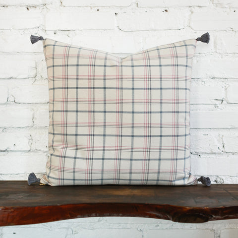 Finley Cool Plaid Woven Pillow