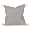 Harper Gray Woven Tasseled Pillow Back