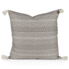 Harper Gray Woven Tasseled Pillow Front