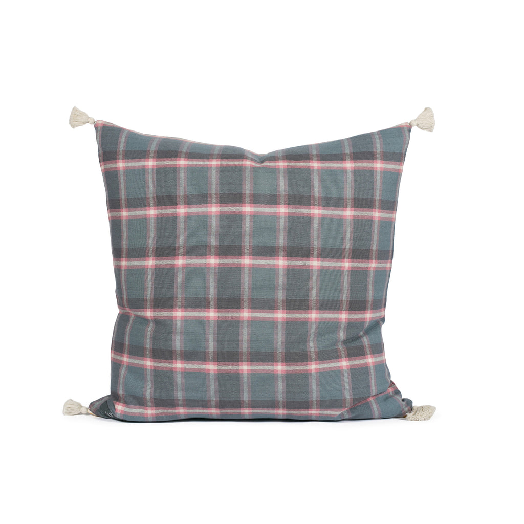 Cullen Cool Plaid Woven Pillow