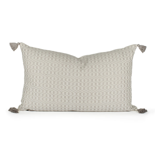 Tallulah Woven Tasseled Pillow