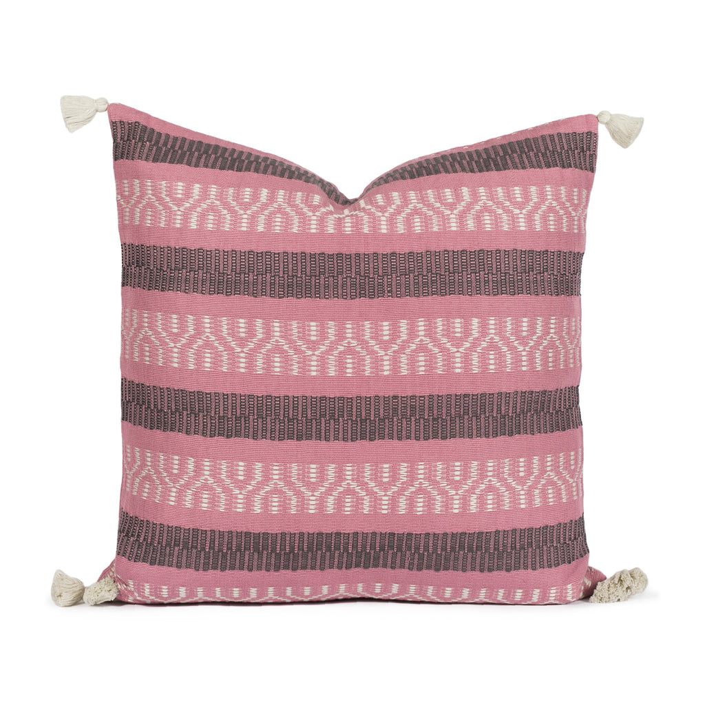 Sabella Orchid Woven Pillow