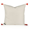 Sheila Cream Woven Tasseled Pillow Back
