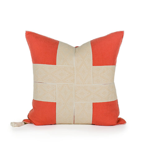 Bailee Coral Woven Pillow