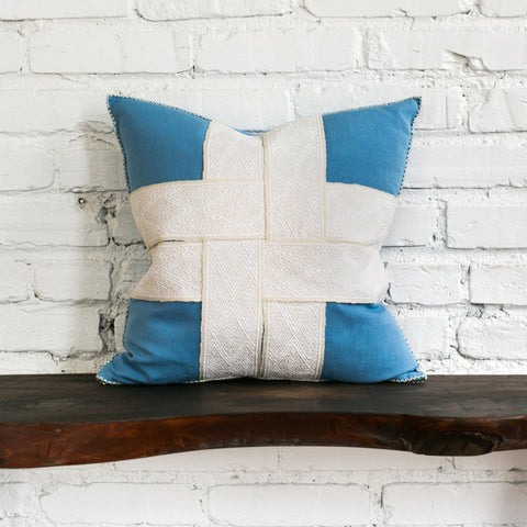 Back of Bailee Woven Strap Pillow