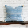 Harper Blue Woven Tasseled Pillow Design