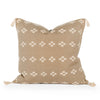 Scottie Taupe Cross Pillow Front