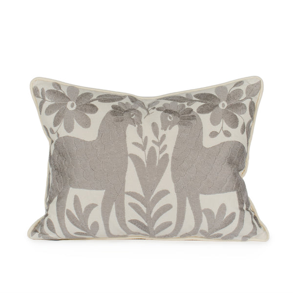 Gray Otomi Pillow