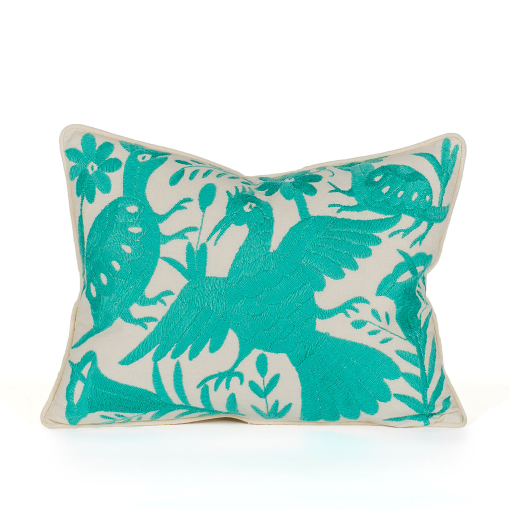 Mint Green Otomi Pillow