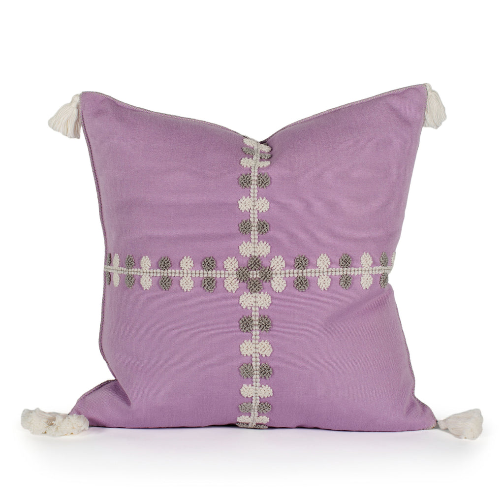 Phoebe Lavender Raised Dot Pillow Front