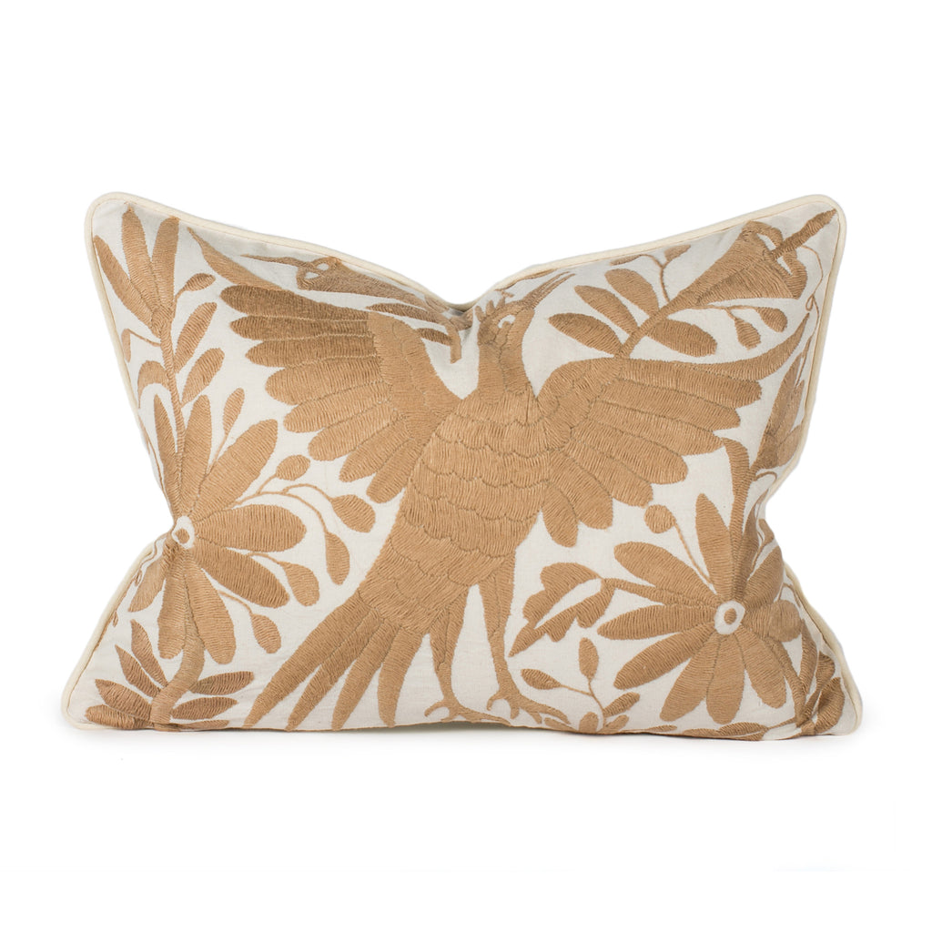 Beige Otomi Pillow Front