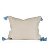 Phoebe Blue Raised Dot Pillow Back
