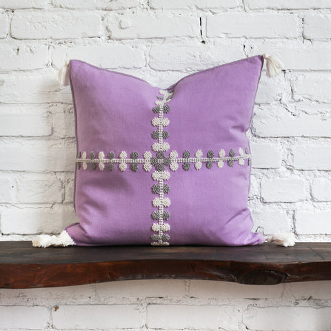 Phoebe Lavender Raised Dot Pillow