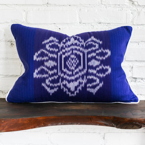 Algeria Home Oblong Ikat Floral Back of Pillow