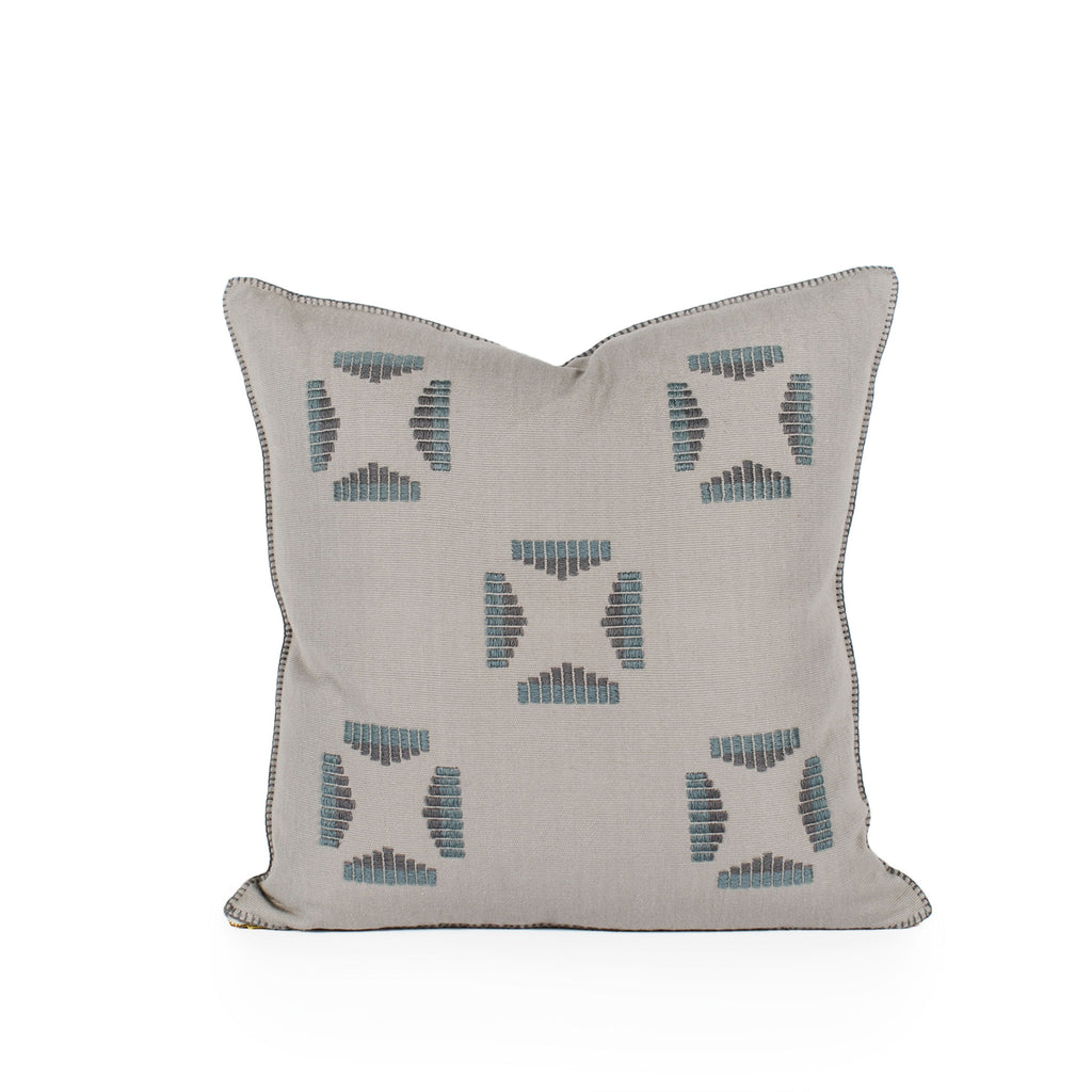 Reid Embroidered Square Pillow Front