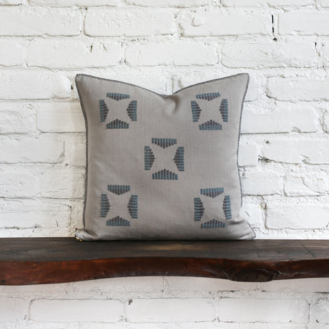 Reid Embroidered Square Pillow