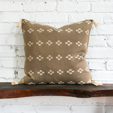 Scottie Taupe Cross Pillow