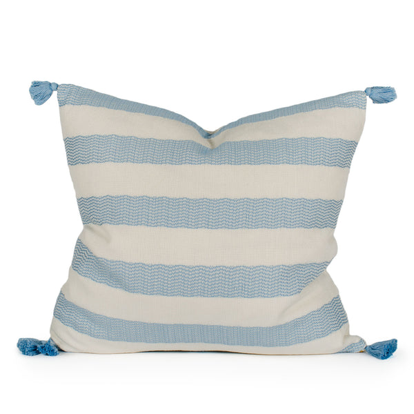 Sloan Woven Tasseled Pillow Front