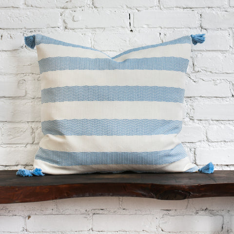 Sloan Woven Tasseled Pillow