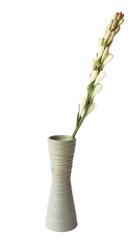 Taupe & Sea Green Tunnel Vase