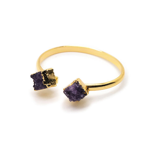 Eden by Sight Double Amethyst Bangle